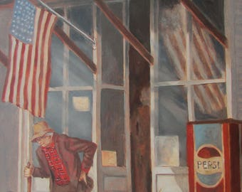 Oil Painting General Store Better Days