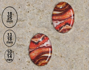 2 cabochon 13 X 18 mm resin orange Jasper print is available in 25 X 18 and 10 X 14 mm