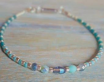 Sparkling Crystal Beaded Bracelet