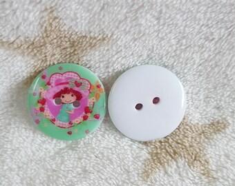 Set of 5 buttons resin cartoon