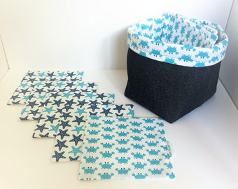 Crab + wipes for baby boy 8 storage basket