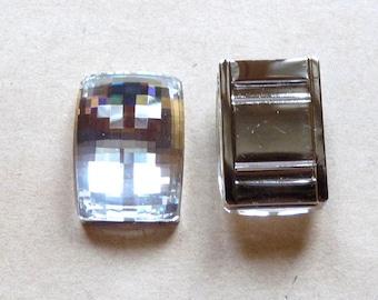 1 attaches 24x16mm Crystal Austrian Crystal