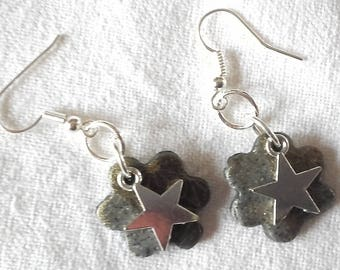 Flowers and stars earrings
