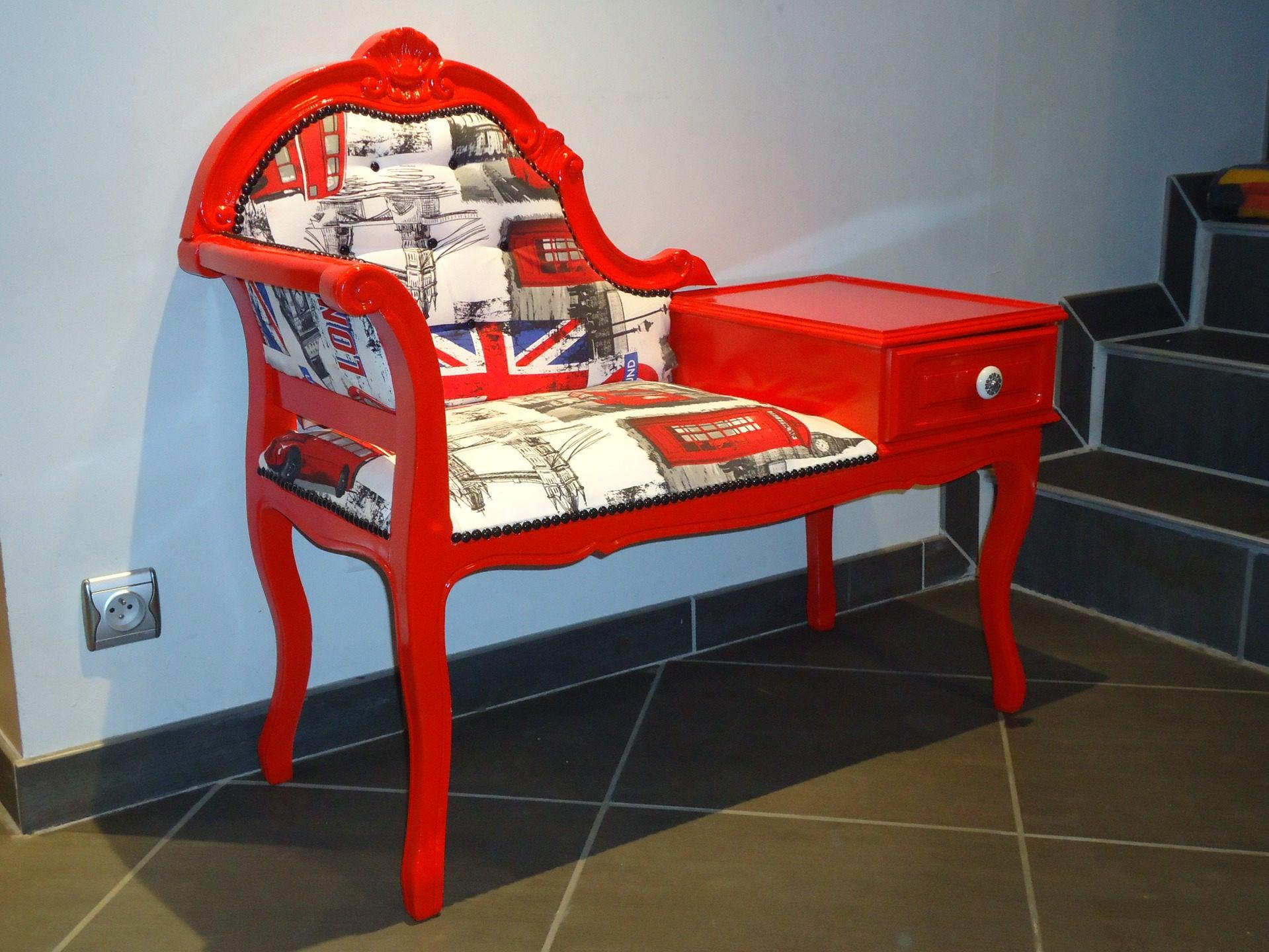 fauteuil t l phone miss london. Black Bedroom Furniture Sets. Home Design Ideas