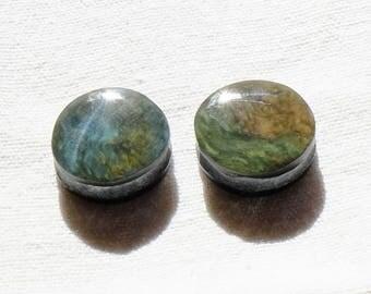 Obsidian manta Huichol Mexico - o - 4 loops