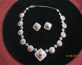 Vintage Signed AVON Necklace and Earring set