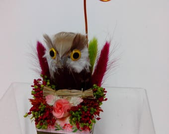 mark up OWL photo holder table decoration