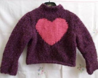 Pink Purple girl sweater found in the heart