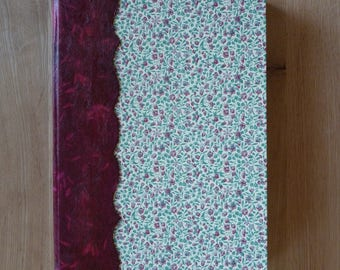 Great book / raspberry pink floral notebook