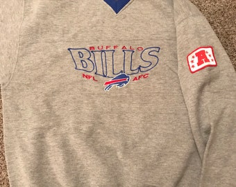 1990s Vintage NFL Buffalo Bills Pullover Sweatshirt Size Medium