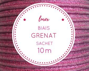 Bag 10 m bias lurex - Garnet