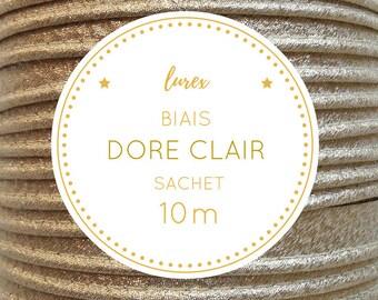 10 m bias lurex - light golden bag