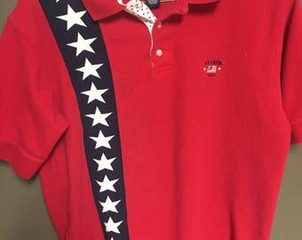 Ivy Crew USA Patriotic Polo. Size medium