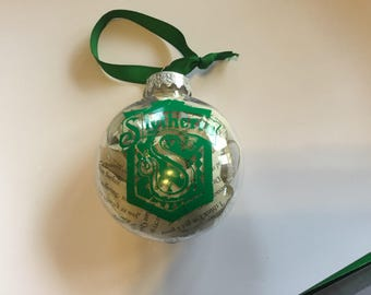 Slytherin House ornament - inspired by Harry Potter