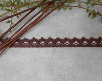 Cord - chocolate brown - adhesive lace fabric Ribbon