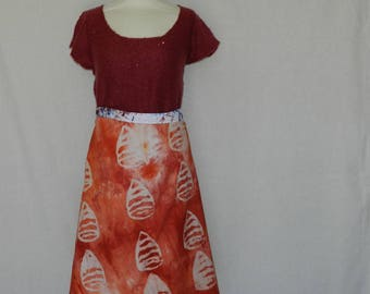 """No. 11 """"zemaze"""" short wrap skirt 2 in 1 fabrics in tinted hand. T34 to 44"""