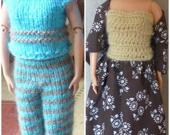 Lot 1 of two Grandma Barbie clothing outfits