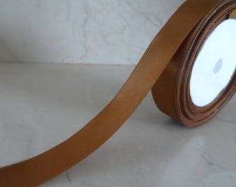 3 meter 18 mm Brown satin ribbon