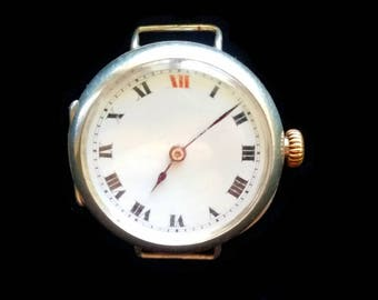 Vintage Rolex Solid Silver WW1 Trench Watch 1916