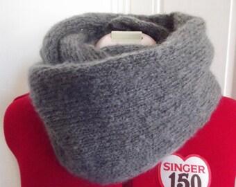 Posh soft grey mohair wool