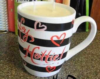 Hottie Mug Soy Candle Hazelnut Cappuccino