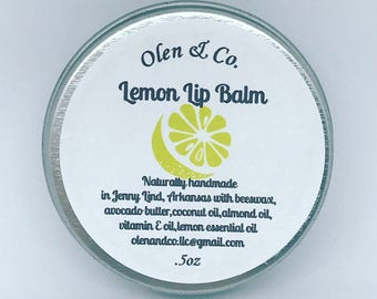 Natural Lemon Lip Balm