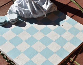 Handmade Wooden Checkerboard