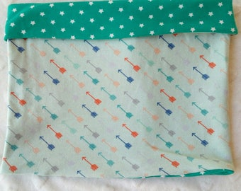 """""""Snood child mid season for boy, tube scarf reversible in jersey"""" arrows """"coordinated stars"""