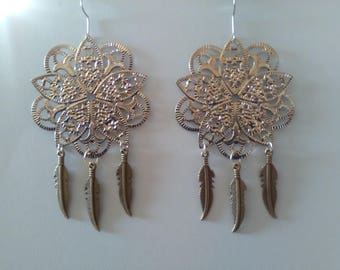 Earrings prints filigree Fleur