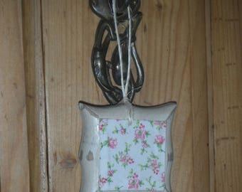 Small cushion doll wooden hanging decor fabric liberty