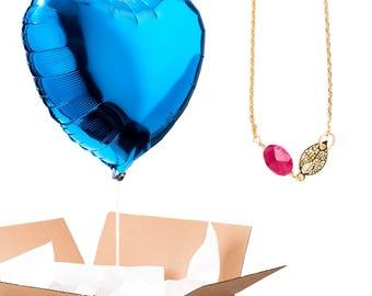 Dark blue heart shaped balloon