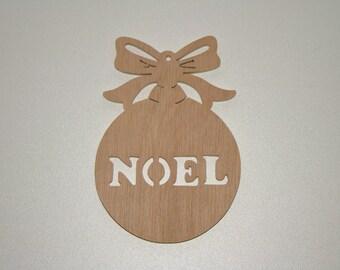 Ball Christmas wood sign