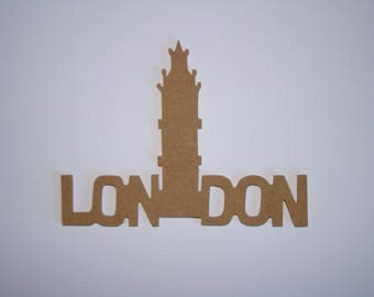 LONDON BIG BEN MDF blank paint 18.5 cm x 24 cm