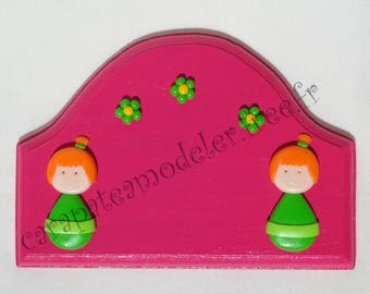 Little girls pink and green door sign
