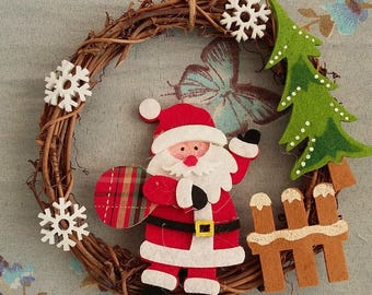 SANTA CLAUS AND CHRISTMAS TREE FELT CROWN
