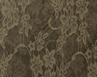 A SOLID COLOR CHESTNUT LUREX LACE METER