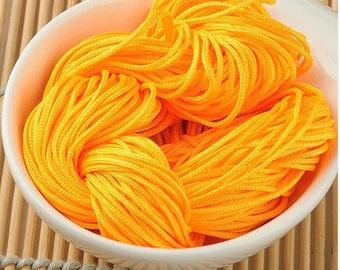 Orange yellow macrame thread craft 30 meters
