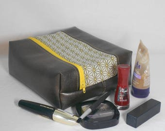Case/pouch makeup/gift/faux leather