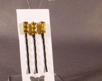 Trio of hair clips - Bobby pins