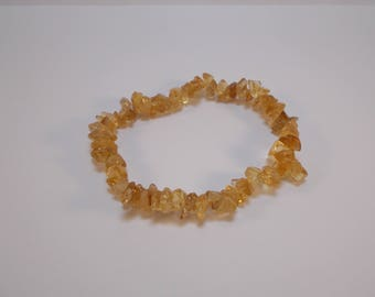 GENUINE CITRINE wire of approximately 70 beads semi precious chips