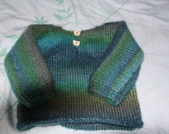 2 years hand knitted boy sweater
