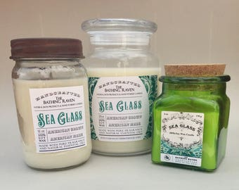 SEA GLASS - 100% soy candles, 3 sizes available