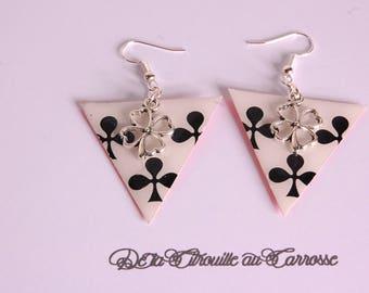 Clover earrings, poker
