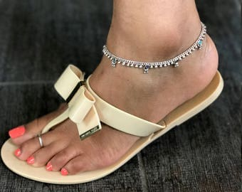 Multicolor Sterling Silver Anklet