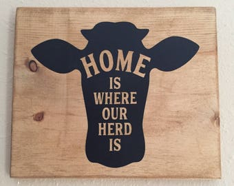 Home is where our herd is.