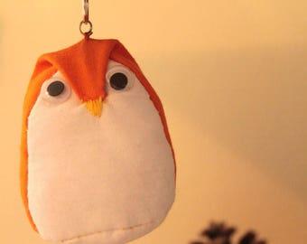 Key shaped OWL or OWL orange and white - large size