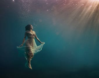 Rising - Underwater Fine Art Photograph - Various Sizes - Unframed