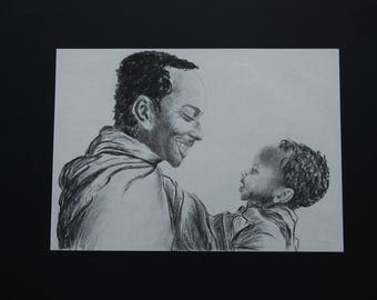 Design: portrait of a father and son