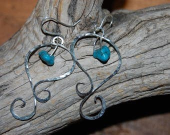 Sterling Silver with turquoise bead earrings
