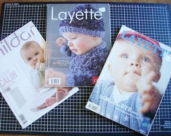 Set of 3 catalogs - knit - baby clothes